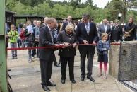 Direktor Lenz Ministerin Rundt und OB Dr. Junk eröffnenen die SFA