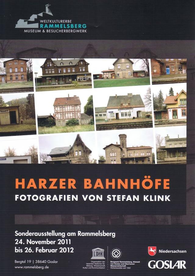 """Plakat zur Ausstellung """"Harzer Bahnhöfe"""" mit Fotografien von Stefan Link"""
