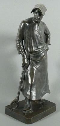 Le Marteleur, Plastik des Bildhauers Meunier