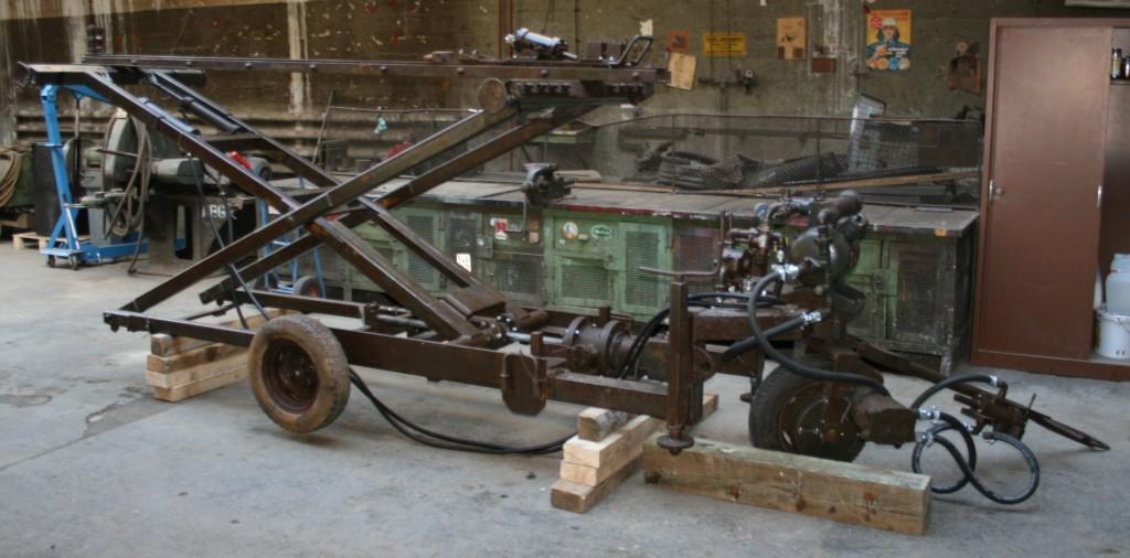 Scherenbohrwagen, Foto: Weltkulturerbe Rammelsberg