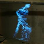 """Texturen aus Licht – Videoinstallation von Kai Fobbe in der Ausstellung """"Hard Work"""""""