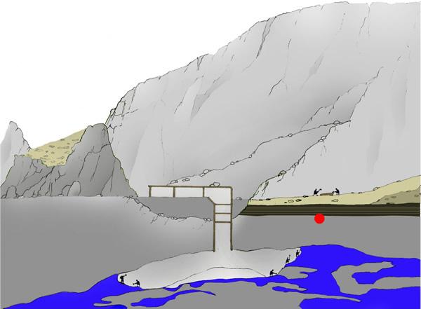 Geländerekonstruktion zur Grabung im Alten Lager