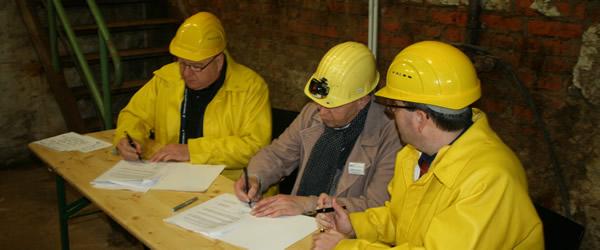 Die Unterzeichnung des neuen Kooperationsvertrags zwischen TU Clausthal und dem Rammelsberg