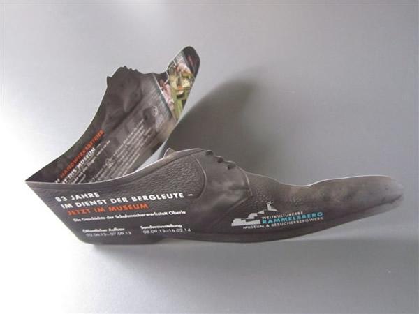 Einladungskarte Ausstellung Schuhmacherwerkstatt Oberle