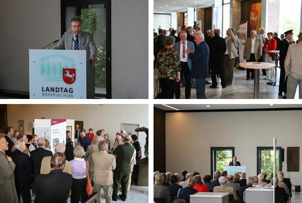Impressionen von der Ausstellungseröffnung im Niedersächsischen Landtag