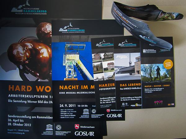 Flyer und Plakate für Sonderausstellungen am Rammelsberg