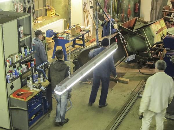 Arbeitsgruppe Restaurierung am Rammelsberg Blick in die Werkstatt