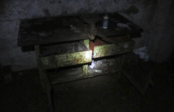 Werkbank im Maschinenraum des Richterschachtes