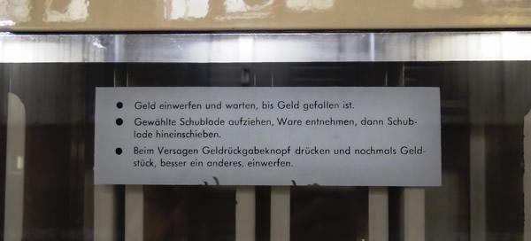 Zigarettenautomat in der Waschkaue am Rammelsberg - Detail
