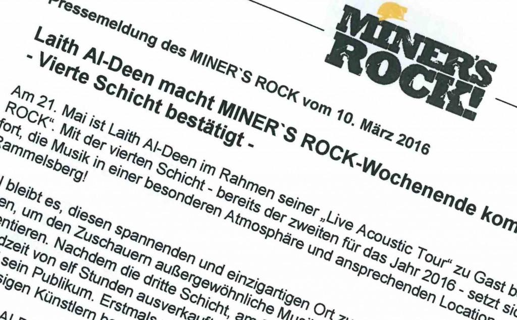 Miners Rock 4. Schicht