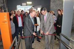 Oberbürgermeister Dr. Junk und Rammelsberggeschäftsführer Herr Lenz eröffnen die Sonderausstellung
