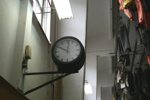 Uhr in der ehemaligen Mannschaftskaue des Rammelsberges