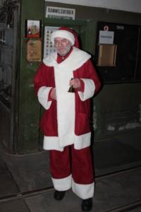 Der Weihnachtsmann ist auch am Berg
