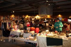 Weihnachtsmarktstände in den Eindickern der ehemaligen Erzaufbereitung