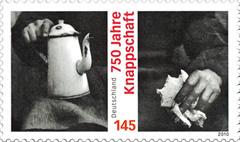 Briefmarke zum Jubiläum 750 Jahre Knappschaft