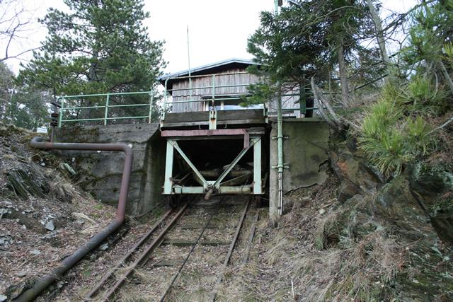 Schrägförderanlage Bergstation
