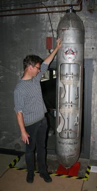 Dahlbusch-Bombe zur Rettung verschütteter Bergleute