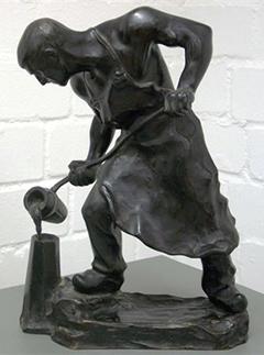 """Elischer, Der Eisengießer, aus der Ausstellung """"Hard Work"""""""