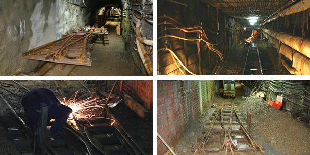 Gleisbau unter Tage