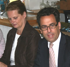Frau Carolin Ruth und Dr. Oliver Liersch am Rammelsberg