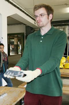 Gunnar Kappei bei seinem Praktikum