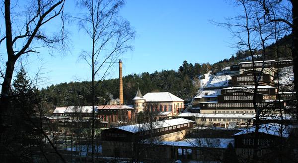 Ein Blick über die Anlagen des Besucherbergwerks Rammelsberg