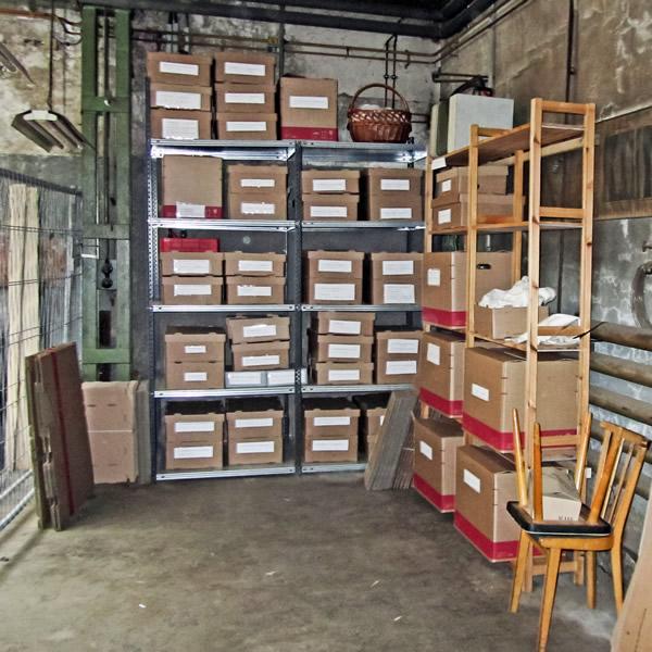 Schuhmacherwerkstatt Oberle - Inventarisierte Kleinteile im Depot des Rammelsbergs