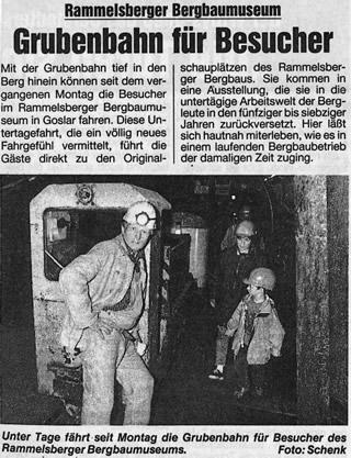 Extra vom 12.8.1993 über die Grubenbahn