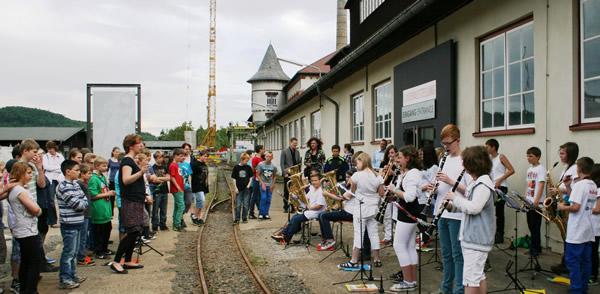 Kooperation mit der Adolf_Grimme Gesamtschule - Projektwoche