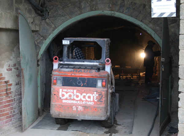 Arbeiten zur Sanierung der Tagesförderstrecke am Rammelsberg