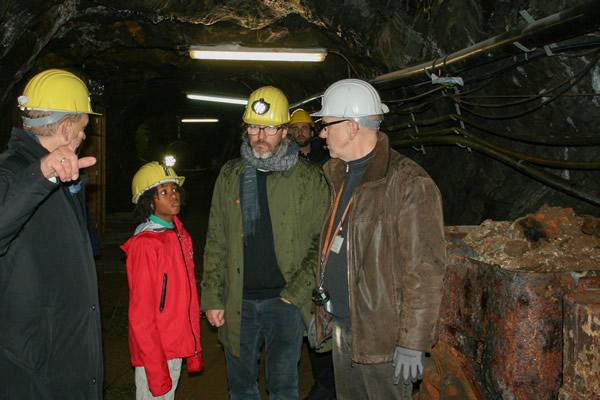 Olafur Eliasson besucht den Rammelsberg - unter Tage