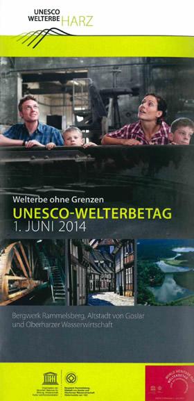 Plakat Welterbetag 2014 - Welterbe ohne Grenzen