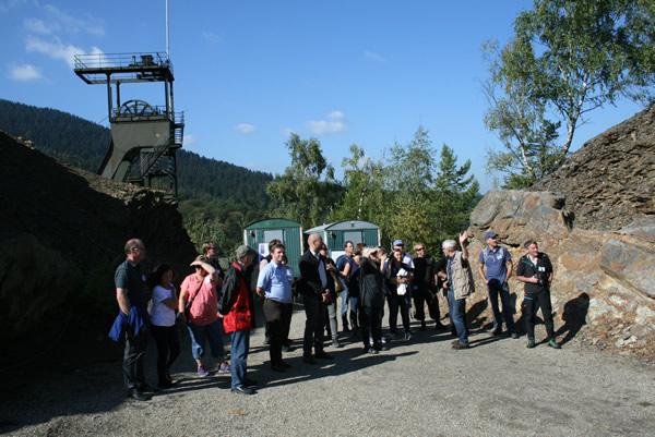 Besuch aus Norwegen - Am Grabungsfeld