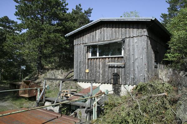 Haspelhaus Außenansicht vor der Sanierung