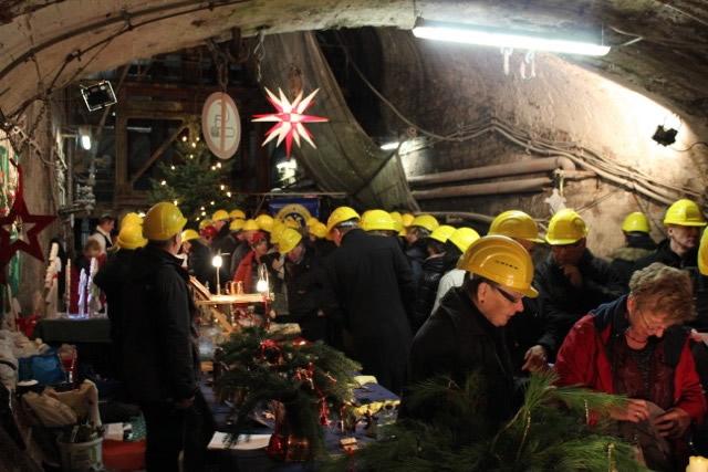 Impressionen vom Weihnachtlichen Rammelsberg - unter Tage
