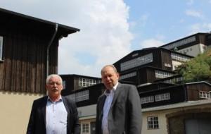 Dr. Wilhelm Priesmeier MdB und Rammelsbergdirektor Gerhard Lenz bei der Besichtung der Anlagen