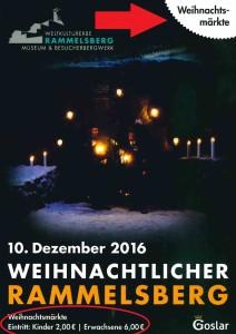 Eintrittskarte Besuch der Weihnachtsmärkte des Weihnachtlichen Rammelsberges 2016