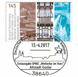 Briefmarke mit Sonderstempel