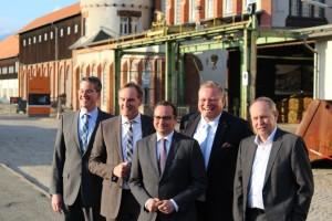 OB Junk (Goslar), OB Jung (Leipzig), OB Kufen (Essen), Wöltigerrode-Geschäftsführer Schürhold, Rammelsbergeschäftsführer Lenz